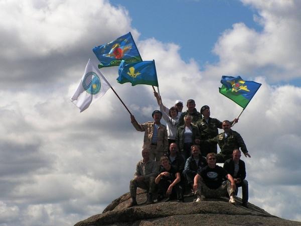 Различные флаги воздушно-десантных войск РФ