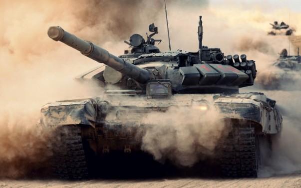 Российские танки не боятся ни грязи, ни пыли