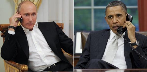 Телефонный разговор президентов Путина и Обама