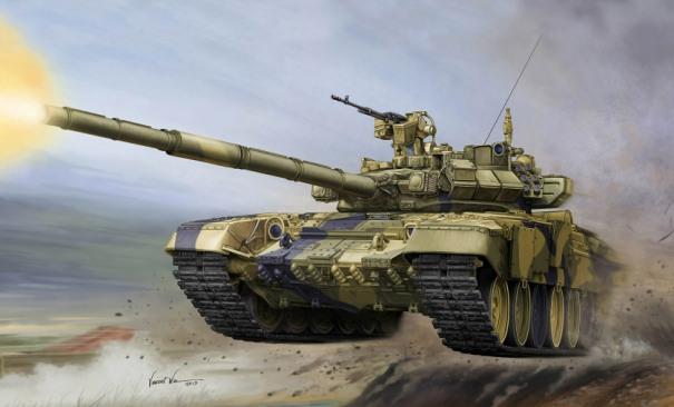Качественная картинка с рисунком танка Т-90