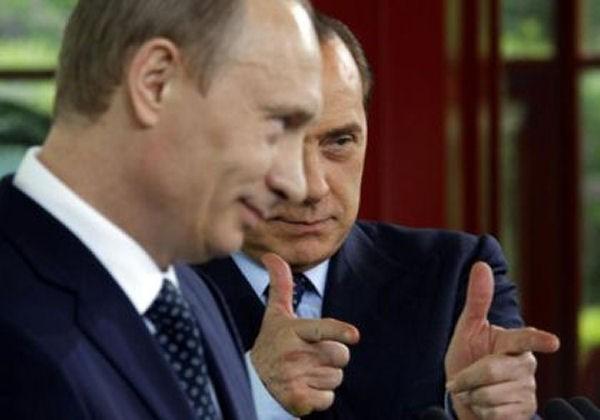 Давние друзья - Владимир Путин и Сильвио Берлускони