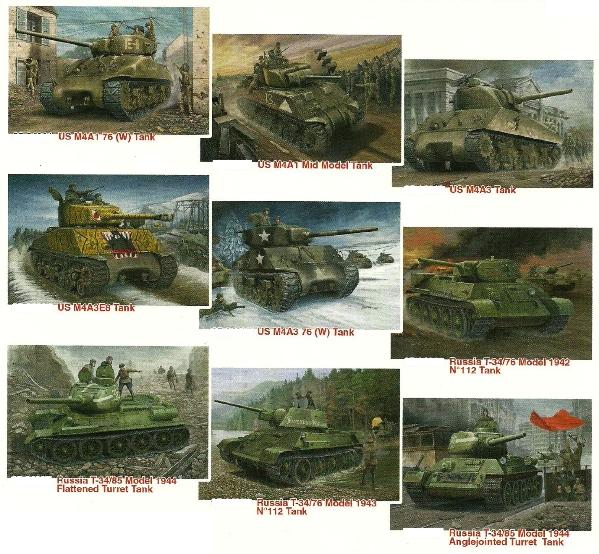 """Эволюция танков Т-34 и """"Шерман"""""""