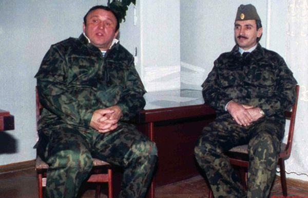 Павел Грачев и Джохар Дудаев. Начало 90-х.