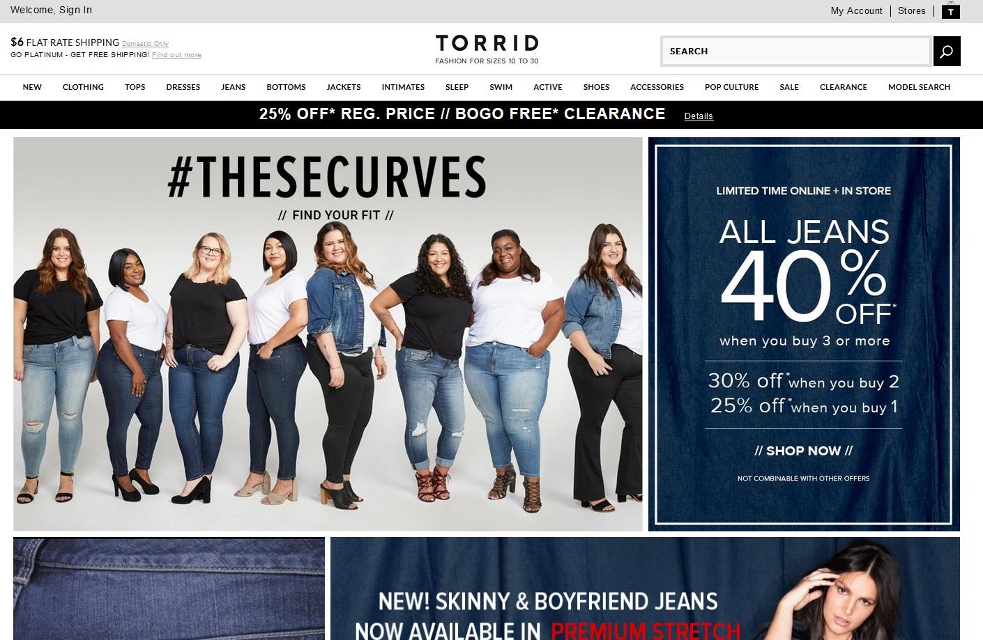 02304d3e3 Американский интернет магазин для полных. Одежда – 48-66, обувь 36-43  размера. Молодежные линейки эпатируют и впечатляют: рваные джинсы  бойфренды, ...