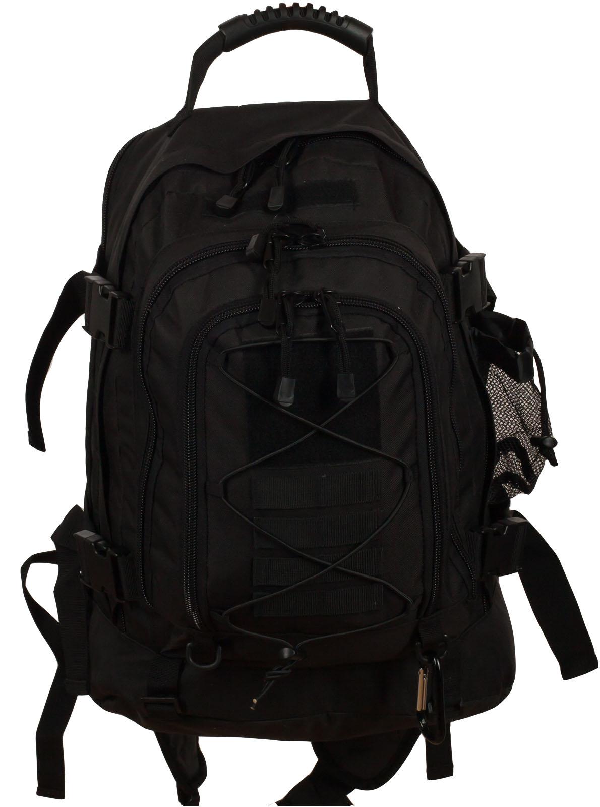 Черный тактический рюкзак с отделением для гидратора 3-Day Expandable Backpack Black в военторге Военпро
