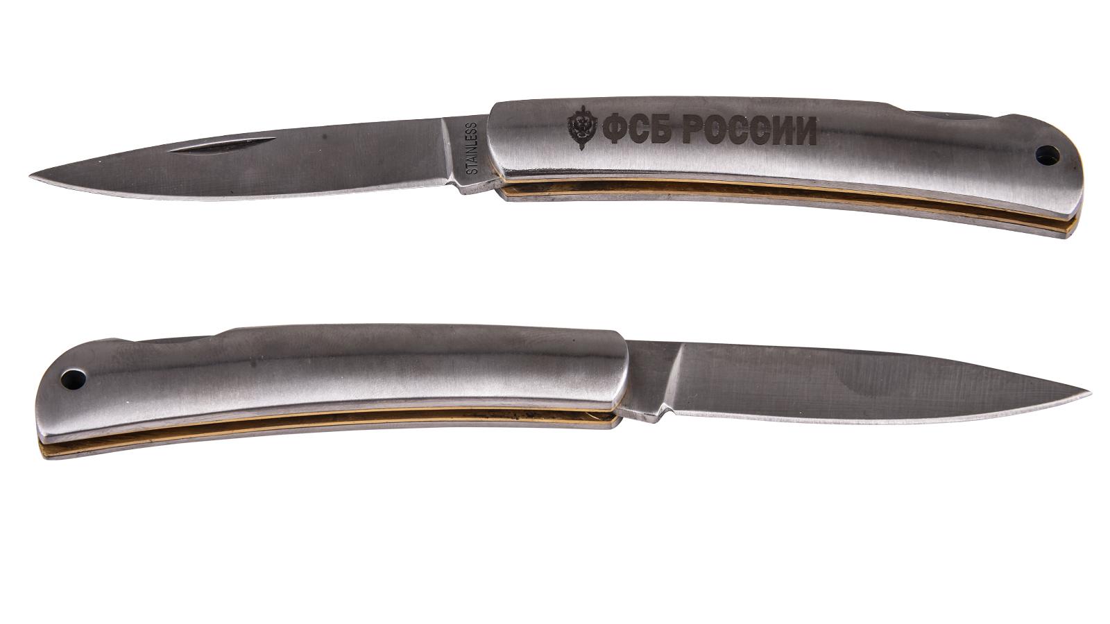 Эксклюзивный нож ФСБ России с авторской гравировкой