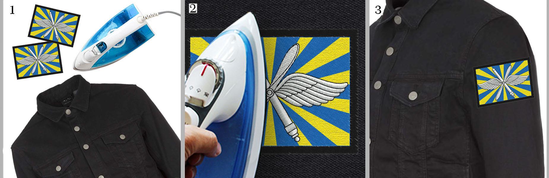 Купить нашивка ввс вышитая шелковой нитью на оливковом фоне на липучке | 600x1850