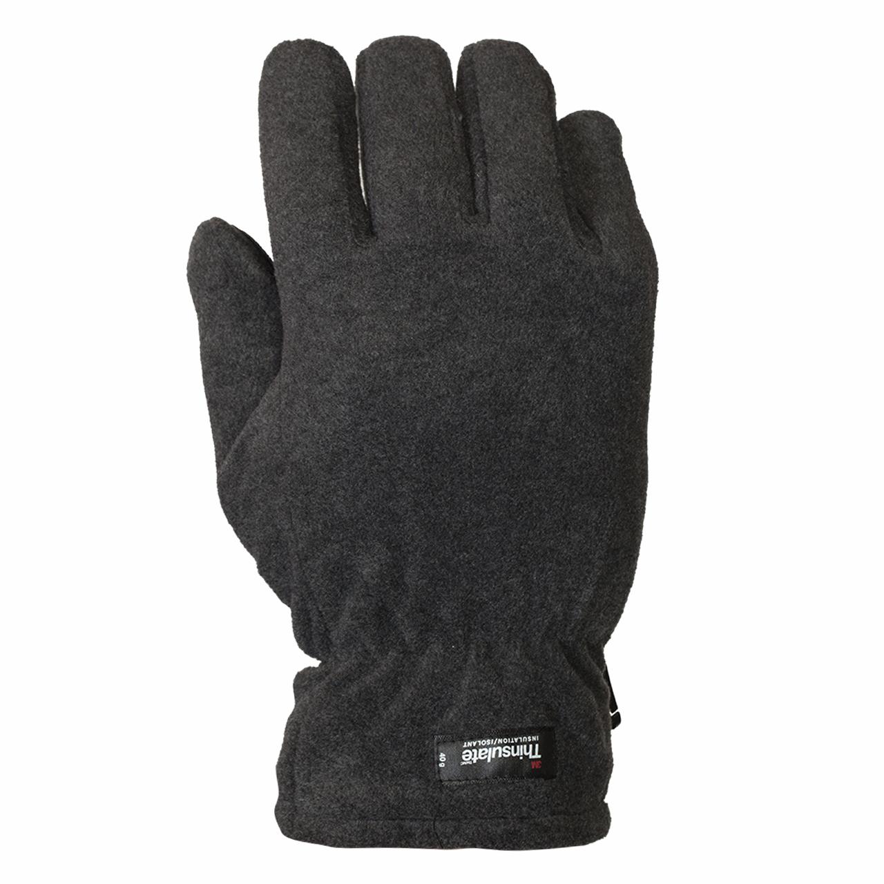 Серые флисовые перчатки Thinsulate