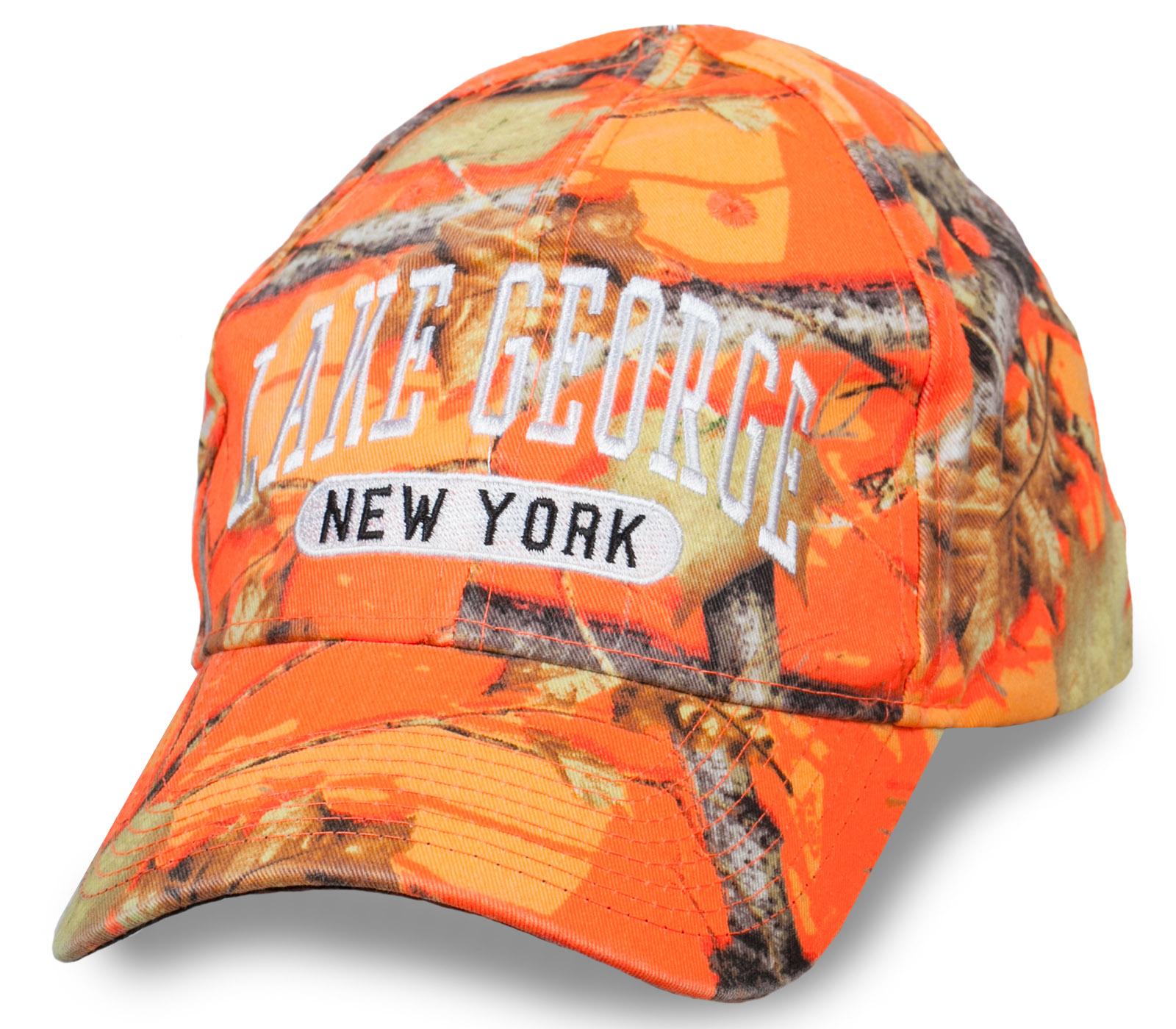 16eedae8f5d Яркая бейсболка с логотипом Lake George New York ощути себя  североамериканцем №6573